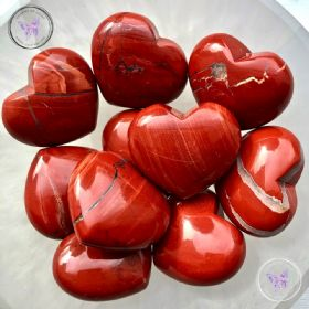 Red Jasper Gemstone Crystal Heart